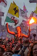 Sheryl Crow plays the Pyramid Stage - The 2019 Glastonbury Festival, Worthy Farm, Glastonbury.