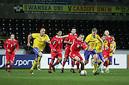 Andrew Crofts of Wales (16) makes a break. International friendly, Wales v Sweden at the Liberty Stadium in Swansea on Wed 3rd March 2010. pic  by  Andrew Orchard
