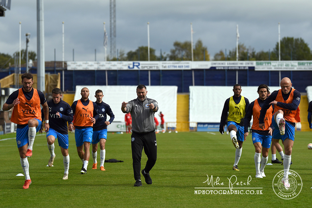 Nick Donnelly. Stockport County 2-1 Kidderminster Harriers. Pre-Season Friendly. 28.9.20