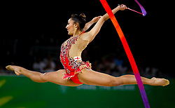 England's Mimi-Isabella Cesar competes in the Team Final and Individual Qualification Sub Division 2 at the Coomera Indoor Sports Centre during day seven of the 2018 Commonwealth Games in the Gold Coast, Australia.