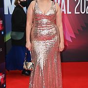 Amel Rachedi arrives at The Souvenir Part II - BFI London Film Festival 2021 at Southbank Centre, Royal Festival Hall, London, 8 October 2021.