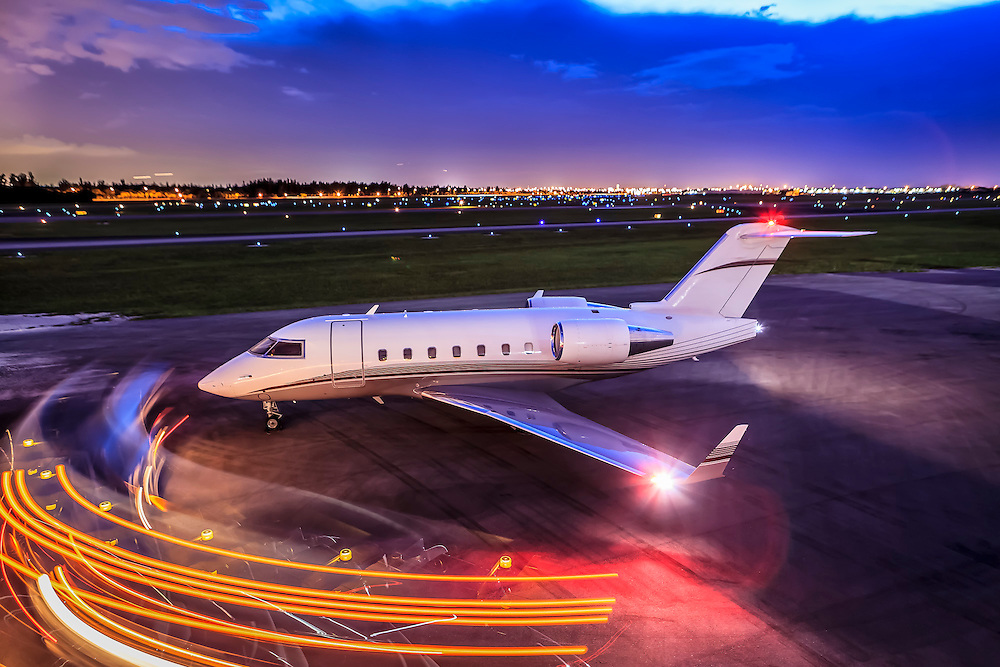 Bombardier Challenger 605, photographed on the ramp at Opa-locka Executive Airport, near Miami.  <br />