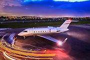 Bombardier Challenger 605, photographed on the ramp at Opa-locka Executive Airport, near Miami.  <br /> <br /> Created by aviation photographer John Slemp of Aerographs Aviation Photography. Clients include Goodyear Aviation Tires, Phillips 66 Aviation Fuels, Smithsonian Air & Space magazine, and The Lindbergh Foundation.  Specialising in high end commercial aviation photography and the supply of aviation stock photography for advertising, corporate, and editorial use.