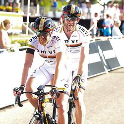18-06-2017: Wielrennen: NK Paracycling: Montferlands-Heerenberg (NED) wielrennen  <br />Timo Fransen, Vincent ter Schure pakten de titel op de tandem