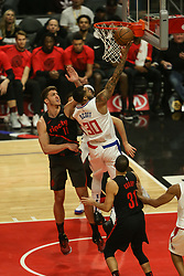 December 17, 2018 - Los Angeles, CA, U.S. - LOS ANGELES, CA - DECEMBER 17: Los Angeles Clippers Forward Mike Scott (30) at the basket during the Portland Trail Blazers at Los Angeles Clippers NBA game on December 17, 2018 at Staples Center in Los Angeles, CA.. (Photo by Jevone Moore/Icon Sportswire) (Credit Image: © Jevone Moore/Icon SMI via ZUMA Press)