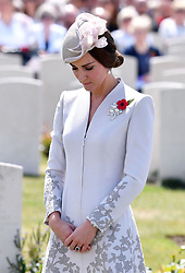 The Duchess of Cambridge at Tyne Cot Commonwealth War Graves Cemetery in Ypres, Belgium, at a commemoration ceremony to mark the centenary of Passchendaele.