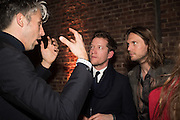 GEORGE LAMB;  ROBIN SCOTT-LAWSON; BEN EASTHAM, Serpentine Gallery and Harrods host the Future Contempories Party 2016. Serpentine Sackler Gallery. London. 20 February 2016