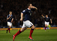 Scotland v Iceland<br /> World Cup Qualifier<br /> Hampden Park / BT Stadium<br /> Glasgow<br /> <br /> Ross McCormick goal celebrations<br /> 1st April 2009<br /> <br /> <br /> <br /> <br /> Ian MacNicol<br /> 07949 850 537<br /> ian_mac1966@yahoo.com<br /> www.ianmacnicolimages.co.uk