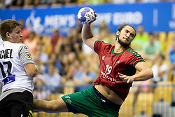 Luis Frade of Portugal during handball match between National teams of Germany and Portugal in game for Third place of 2018 EHF U20 Men's European Championship, on July 29, 2018 in Arena Zlatorog, Celje, Slovenia. Photo by Urban Urbanc / Sportida