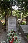 Litwa, Wilno 08.07.2014. Cmentarz na Wileńskiej Rossie - grób poety Władysława Syrokomli