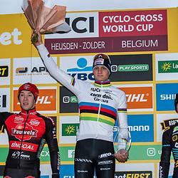 26-12-2019: Wielrennen: Wereldbeker veldrijden: Zolder <br />Mathieu van der Poel wint op het Circuit van Zolder
