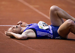 Justine Palframan of South Africa Republic injured  at finish line of  200m Women during 20th European Athletics Classic Meeting in Honour of Miners' Day in Velenje on July 1, 2015 in Stadium Velenje, Slovenia. Photo by Vid Ponikvar / Sportida
