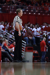 20 January 2017:  NCAA basketball referee Rick Crawford during an NCAA Missouri Valley Conference mens basketball game Where the Purple Aces of Evansville lost to the Illinois State Redbirds 75-73 in Redbird Arena, Normal IL