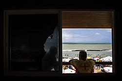 October 16, 2016 - Boa Viagem, Brazil - Lifeguards watching the bathers in the Boa Viagem beach in Recife northeastern Brazil, on October 16, 2016. The beach is known internationally for shark attacks and for their beauty. (Credit Image: © Diego Herculano/NurPhoto via ZUMA Press)