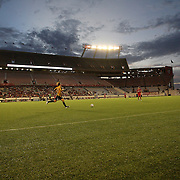 during a United Soccer League Pro soccer match between the Collumbusand the Orlando City Lions at the Florida Citrus Bowl on August 20, 2011 in Orlando, Florida.  (AP Photo/Alex Menendez)
