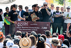BF11 invited builder Ben Zales wins 2nd place and $3,000 for his custom 1963 Harley-Davidson Panhead at the Born Free Motorcycle Show (BF11) at Oak Canyon Ranch, Silverado  CA, USA. Saturday, June 22, 2019. Photography ©2019 Michael Lichter.