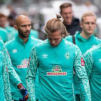 10.09.2020, Trainingsgelaende am wohninvest WESERSTADION - Platz 12, Bremen, GER, 1.FBL, Werder Bremen Training<br /> <br /> Gut gelaunt nach der Mental Stunde zum Training <br /> Christian Groß / Gross (Werder Bremen #36)<br /> Jiri Pavlenka (Werder Bremen #01)<br /> Ömer / Oemer Toprak (Werder Bremen #21)<br /> Niclas Füllkrug / Fuellkrug (Werder Bremen #11)<br /> Niklas Moisander (Werder Bremen #18 Kapitaen)<br /> <br /> <br /> <br /> <br /> <br /> <br /> Foto © nordphoto / Kokenge