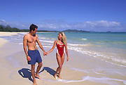 Couple, Waimanalo Beach, Oahu, Hawaii<br />