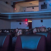 """The audience watching the presention of """"Ee'hanii'/We Remember,"""" an event Commemorating the Sesquicentennial of the Treaty of 1868 at El Morro Theatre, Friday July 20."""
