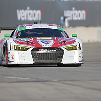 Detroit, MI - Jun 03, 2016:  The Stevenson Motorsports Audi races through the turns at the Detroit Grand Prix at Belle Isle Park in Detroit, MI.