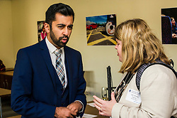Pictured: Councillor Sheila Hands, representing Guide Dogs, and Hamza Yousef<br /> Transport minister Humza Yousaf unveiled details of   Going Forward - Scotland's Accessible Travel Framework in Edinburgh today. The blueprint, which has been co-produced by Transport Scotland, disabled people's organisations, local government, transport providers and operators. <br /> <br /> <br /> Ger Harley | EEm 21 September 2016