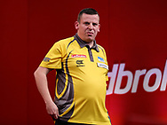 dave chisnall during the 2018 Players Championship Finals at Butlins Minehead, Minehead, United Kingdom on 24 November 2018.