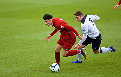 DERBY, ENGLAND - Friday, March 8, 2019: Liverpool's Curtis Jones gets away from Derby County's Ethan Wassall on his way to scoring the opening goal during the FA Premier League 2 Division 1 match between Derby County FC Under-23's and Liverpool FC Under-23's at the Derby County FC Training Centre. (Pic by David Rawcliffe/Propaganda)
