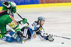 Gregor Baumgartner (EHC Liwest Linz, #79) during ice-hockey match between HDD Tilia Olimpija and EHC Liwest Black Wings Linz at second match in Semifinal  of EBEL league, on March 8, 2012 at Hala Tivoli, Ljubljana, Slovenia. (Photo By Matic Klansek Velej / Sportida)