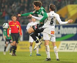 26.11.2011, Keine Sorgen Arena, Ried im Innkreis, AUT, 1.FBL, SV Josko Ried vs FC Wacker Innsbruck, im Bild (v.l.n.r.) Robert Zulj, (SV Josko Ried, #22) und Buelent Bilgen, (FC Wacker Innsbruck, #6), EXPA Pictures © 2011, PhotoCredit: EXPA/ R. Hackl