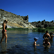 Benton Hot Springs in Mammoth Lakes, California provide soaking relief in the scenic Sierra Mountains.