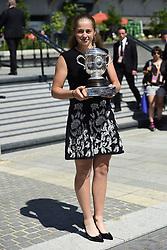 June 11, 2017 - Paris, France, France - Jelena Ostapenko (Lat) posant avec le trophee Suzanne Lenglen (Credit Image: © Panoramic via ZUMA Press)