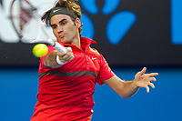 TENNIS - GRAND SLAM - AUSTRALIAN OPEN 2012 - MELBOURNE PARK (AUS) - 16/01/2012 - PHOTO : BRETT CROCKFORD / SMP IMAGES / DPPI - DAY 1 - Roger Federer (SUI)