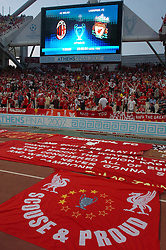 Athens, Greece - Wednesday, May 23, 2007: Liverpool's xxxx and AC Milan's xxxx during the UEFA Champions League Final at the OACA Spyro Louis Olympic Stadium. (Pic by Jason Roberts/Propaganda)