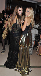 Left to right, AMBER LE BON and POPPY DELEVINGNE at the Harper's Bazaar Women of the Year Awards 2011 held at Claridge's, Brook Street, London on 7th November 2011.