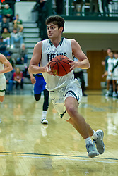 BLOOMINGTON, IL - January 04: Doug Wallen during a college basketball game between the IWU Titans  and the Millikin Big Blue on January 04 2020 at Shirk Center in Bloomington, IL. (Photo by Alan Look)