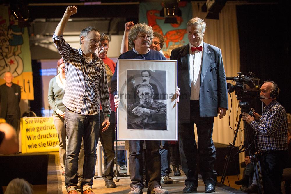 Berlin, Germany - 14.01.2017<br /> <br /> Commemorate Fidel Castro. Rosa-Luxemburg conference 2017 at Mercure Hotel MOA Berlin.<br /> <br /> Gedenken an Fidel Castro.  Rosa-Luxemburg-Konferenz 2017 im Mercure Hotel MOA Berlin. <br /> <br /> Photo: Bjoern Kietzmann