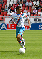 Utrecht The Netherlands 26 July 2009: Pre-season Friendly FC Utrecht vs Italian Serie A team Calcio Catania. The game ends in a well-deserved 0-0 draw. Mariano Izco on the ball for the Italians. 26/07/2009<br /> Credit Colorsport / Richard Wareham