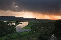 Drijen Lake at dusk. Hutovo Blato Nature Park. Ramsar Site and an Importan Bird Area (IBA). Bosnia-Herzegovina. May 2009.<br /> Elio della Ferrera / Wild Wonders of Europe