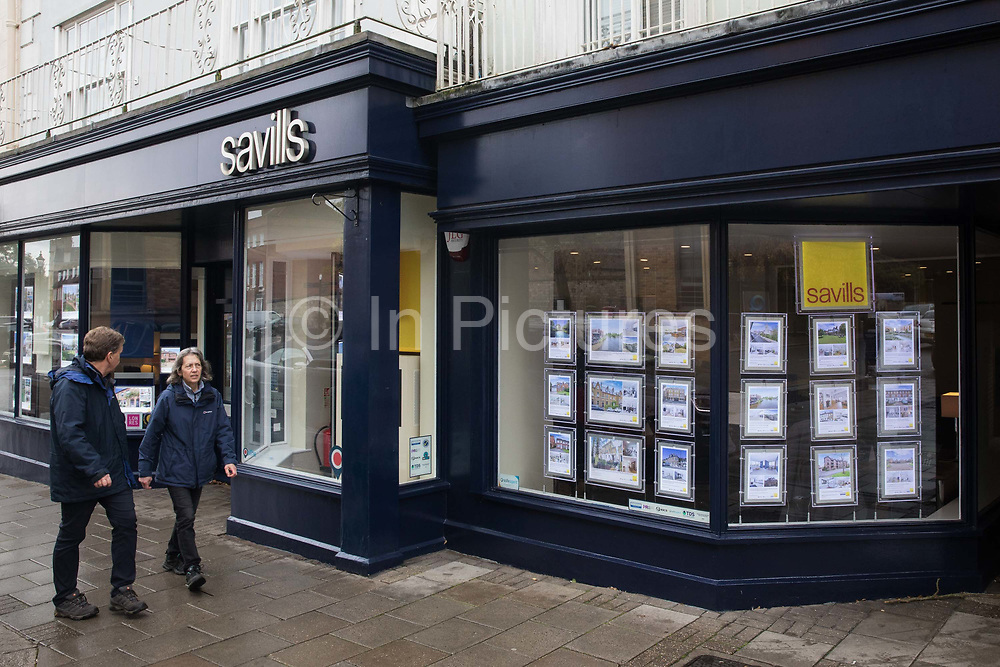 A branch of estate agent Savills is pictured during the second coronavirus lockdown on 9th November 2020 in Windsor, United Kingdom. The Housing Secretary Robert Jenrick has advised that the property market may continue to operate during the lockdown provided that safety guidance intended to prevent the spread of COVID-19 is followed.