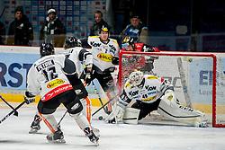08.01.2017, Ice Rink, Znojmo, CZE, EBEL, HC Orli Znojmo vs Dornbirner Eishockey Club, 41. Runde, im Bild v.l. Nicolas Petrik (Dornbirner) Kevin Schmidt (Dornbirner) Olivier Magnan (Dornbirner) Marek Spacek (HC Orli Znojmo) Florian Hardy (Dornbirner) // during the Erste Bank Icehockey League 41th round match between HC Orli Znojmo and Dornbirner Eishockey Club at the Ice Rink in Znojmo, Czech Republic on 2017/01/08. EXPA Pictures © 2017, PhotoCredit: EXPA/ Rostislav Pfeffer