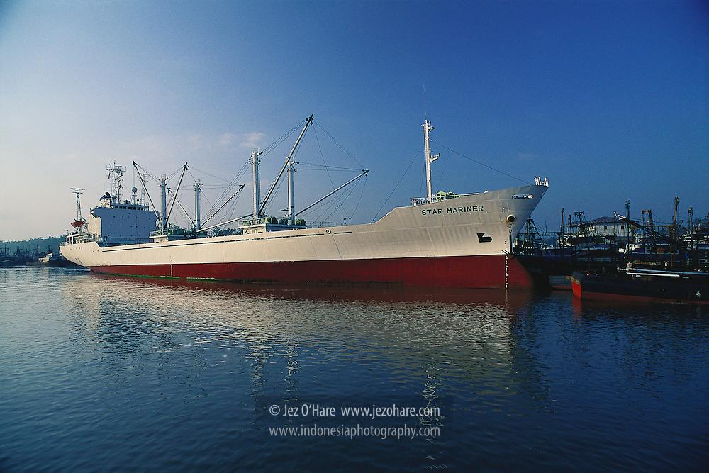 Cargo ship, Benjina, Aru Islands, South East Maluku, Indonesia.