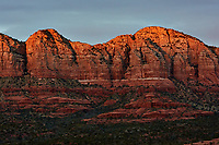 Sunset Panorama Sedona, Arizona. Image 7 of 11 images taken with a Nikon 1 V2 camera and 32 mm f/1.2 lens (ISO 200, 32 mm, f/5.6, 1/40 sec). Raw images processed with Capture One Pro. Panorama generated using AutoPano Giga Pro.