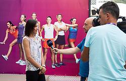 PORTOROZ, SLOVENIA - SEPTEMBER 19:  Katarina Srebotnik during the WTA 250 Zavarovalnica Sava Portoroz at SRC Marina, on September 19, 2021 in Portoroz / Portorose, Slovenia. Photo by Vid Ponikvar / Sportida