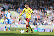 Burnley midfielder David Jones (14) during the Sky Bet Championship match between Brighton and Hove Albion and Burnley at the American Express Community Stadium, Brighton and Hove, England on 2 April 2016.