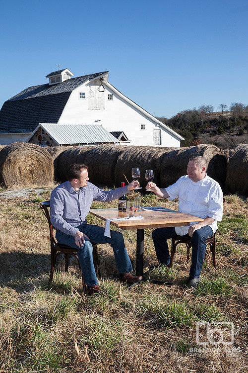 Chef Wes Johnson and Reid Roberts with Metropolitan Farmer preparing a farm to table dinner.