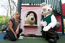© licensed to London News Pictures. London, UK 11/04/2012. Wallace & Gromit and Javine Hylton join the launch of The Big Breakfast charity fundraiser at the Richard House Children Hospice to encourage people to organise charity breakfasts to support children hospices all around the country. Photo credit: Tolga Akmen/LNP