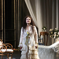 .Picture shows : Carmen Giannattasio  as Violetta Valéry ..La traviata by Giuseppe Verdi.A NEW SCOTTISH OPERA AND WELSH NATIONAL CO-PRODUCTION. Picture © Drew Farrell Tel : 07721 ?735041..Scottish Director David McVicar and Tanya McCallin, the creative team behind Scottish Opera?s Der Rosenkavalier, offer an authentic take on one of the world?s most famous operas. Bohemian artists, showgirls, courtesans ? the rich and the wretched mix together within the shady underworld of the Parisian demi-monde..Carmen Giannattasio makes her Scottish Opera début playing the lead role of Violetta, Federico Lepre sings Alfredo, and Richard Zeller returns to Scottish Opera as Giorgio Germont. French conductor  Emmanuel Joel-Hornak returns for this production...Cast.Carmen Giannattasio  as Violetta Valéry.Federico Lepre as Alfredo Germont.Richard Zeller as Giorgio Germont.Katherine Allen as Flora Bervoix.Adrian Powter as Baron Douphol.Nicholas Ransley as Gastone.Paul Carey Jones as Marchese D?Obigny.Alan Fairs as Doctor Grenvil.Catriona Barr as  Annina..Conductors  Emmanuel Joel-Hornak and (Derek Clark Nov 13 & 15).Director David McVicar.DesignerTanya McCallin.ChoreographerAndrew George..THEATRE ROYAL GLASGOW Thu 30 Oct 7.15pm ? Sat 1 Nov 7.15pm ? Fri 6 Feb 7.15pm Sun 8 Feb 4pm ? Thu 12 Feb 7.15pm ? Sat 14 Feb 7.15pm La traviata Unwrapped - Thurs 5 Feb 6pm ..EDEN COURT, INVERNESS Thu 6 Nov 7.15pm ? Sat 8 Nov 7.15pm  La traviata Unwrapped ? Wed 5 Nov 6pm..HIS MAJESTY?S THEATRE, ABERDEEN Thu 13 Nov 7.30pm ? Sat 15 Nov 7.30pm  La traviata Unwrapped ? Wed 12 Nov 6pm ..FESTIVAL THEATRE EDINBURGH Wed 19 Nov 7.15pm ? Sun 23 Nov 4pm  Thu 27 Nov 7.15pm ? Sat 29 Nov 7.15pm  La traviata Unwrapped - Tues 25 Nov 6pm ..GRAND OPERA HOUSE, BELFAST Thu 26 Feb time tbc ? Sat 28 Feb La traviata Unwrapped ? Fri 27 Feb time tbc..Note to Editors: This image is free to be used editorially in the promotion of Scottish Opera and this production. Without prejudice ALL other licences without prior consent will