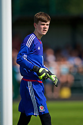 WREXHAM, WALES - Monday, July 22, 2019: North goalkeeper Aiden Johnson during the Welsh Football Trust Cymru Cup 2019 at Colliers Park. (Pic by Paul Greenwood/Propaganda)