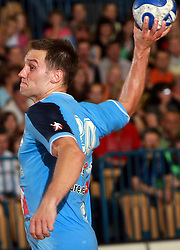 Luka Zvizej of Slovenia at  handball game between men national teams of Slovenia and Slovakia, first qualification game for the World Chamionship 2009, on June 7, 2008, in Arena Zlatorog, Celje, Slovenija. Result: 33 : 33. (Photo by Vid Ponikvar / Sportal Images)