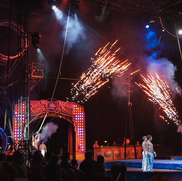 Barnum Bailey Circus Clown Fireworks